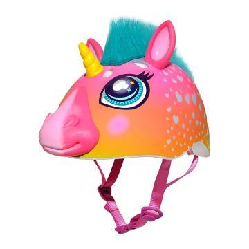 Raskullz Super Rainbow Unicorn Child Helmet - Pink Rainbow 50-54cm - Pink Rainbow