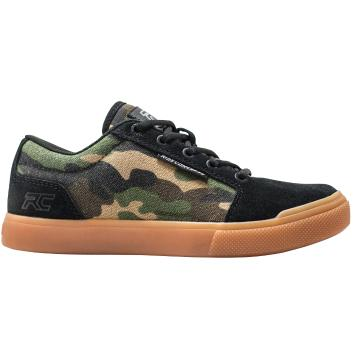 Ride Concepts Vice Youth MTB Flat Shoe - Camo/Black - Camo/Black