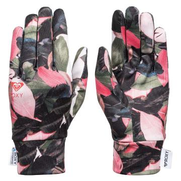 Roxy 2020 Women's Hydrosmart Liner Gloves - Living Coral Plumes
