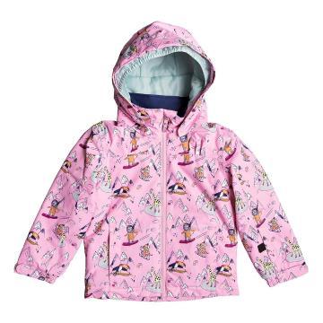 Roxy 2020 Youth Mini Jetty Jacket - Prism Pink Snow Trip
