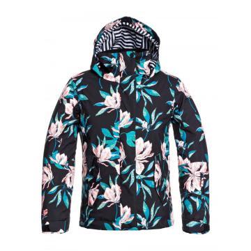 Roxy 2021 Girl's Jetty Snow Jacket - True Black Tropical Day