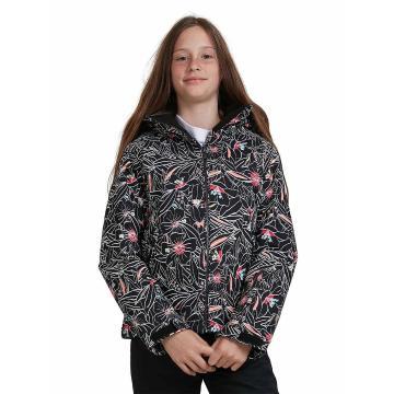 Roxy 2021 Youth American Pie Snow Jacket - True Black Outlines