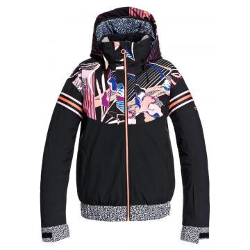 Roxy 2021 Women's Pop Meridian Snow Jacket - True Black Pop Flowers