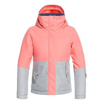 Roxy 2019 Girl's Jetty Block Jacket - Shell Pink