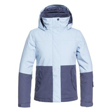 Roxy 2019 Girl's Jetty Block Jacket - Powder Blue