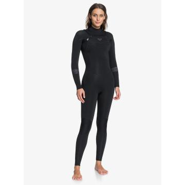 Roxy 2021 Women's 3/2 Syncro Full Zip GBS Wetsuit - Jet Black