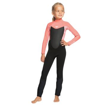 Roxy 3/2 Prologue Back Zip Wetsuit - Black/Coral Flame/Bright White