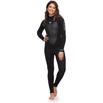 Roxy 4/3mm Prologue Back Zip Wetsuit - Black