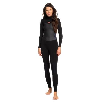 Roxy Women's 3/2 Syncro Back Zip GBS Wetsuit - Black/Gunmetal