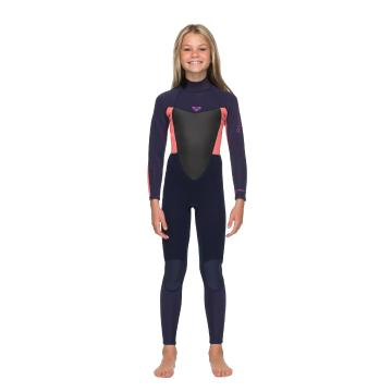 Roxy Girls 3/2 Prologue Back Zip Wetsuit - BlueRibbon/CoralFlame