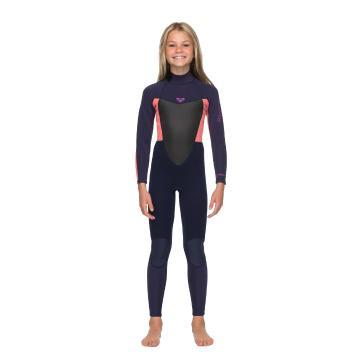 Roxy Girls 3/2 Prologue Back Zip Wetsuit - BlueRibbon/CoralFlame