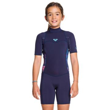 Roxy Girls 2/2 Syncro BZ Short Sleeve Spring - BlueRibbon/CoralFlame