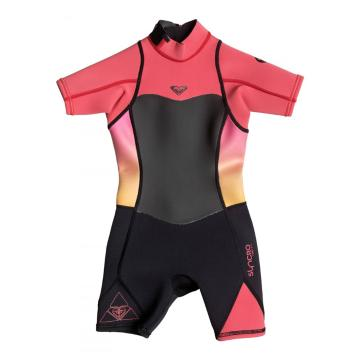 Roxy 2017 Girl's 2/2 Syncro Teeny Back Zip Short Sleeve Spring Wetsuit - 2-7 Years