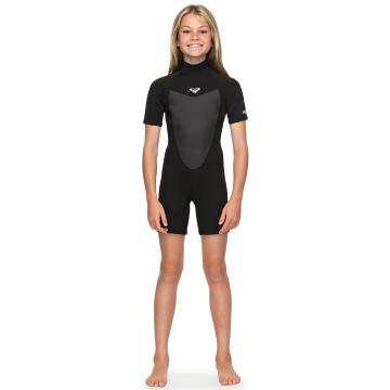 Roxy 2/2mm Prologue - Short Sleeve Back Zip Springsuit - Black