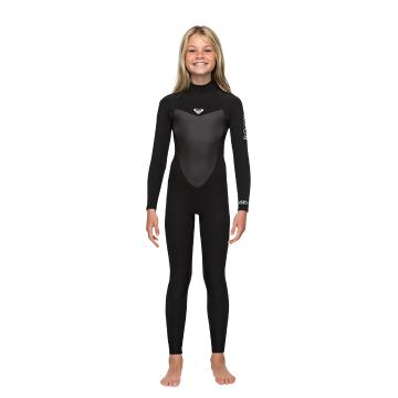 Roxy 2019 Girls 4/3 Prologue Back Zip GBS - Black