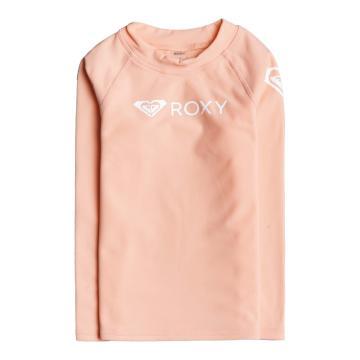 Roxy 2021 Girls Heater Long Sleeve Rash Vest - Peach Pearl