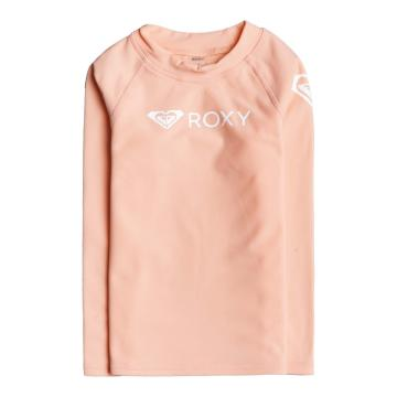 Roxy 2021 Girls Heater Long Sleeve Rash Vest - Peach Pearl