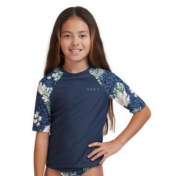 Roxy Girl's Printed Short Sleeve Rashguard