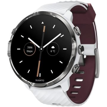 Suunto 7 Watch with Google Wear OS - White Burgundy