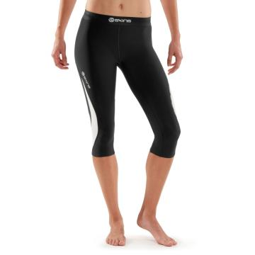 Skins Women's DNAmic Thermal 3/4 Tights - Black/Cloud