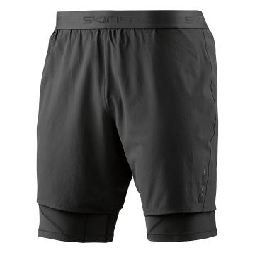 Skins Men's Core Superpose 1/2 Tights - Black/Silver
