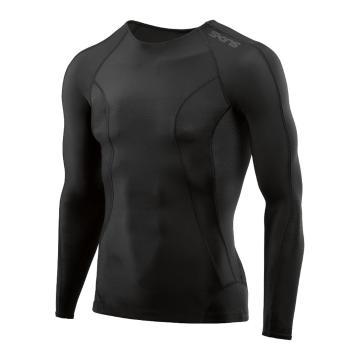 Skins Men's Core Long Sleeve Top - Black/Black
