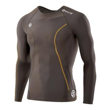 Skins Men's DNAmic Compression Long Sleeve Top - Utility