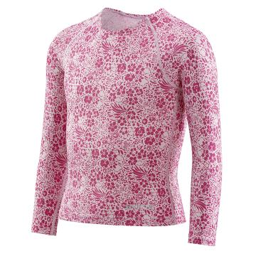 Skins Youth Primary L/S Top - Floral Pink