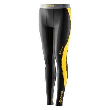 Skins Youth DNAmic Youth Long Tights - Black/Citron