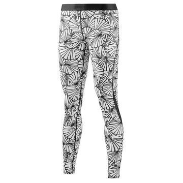 Skins Women's Core Long Tights - Sunfeather Black/White