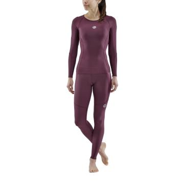 Skins Women's 3-Series Long Sleeve Top - Burgundy