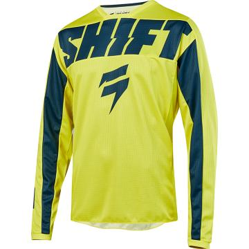 Shift 2019 Youth Whit3 York Jersey - Yellow/Navy