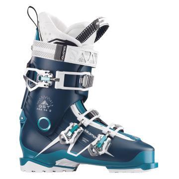 Salomon 2017 Women's Qst Pro 90 Ski Boots - Petrol Blue/Blue/Aqua