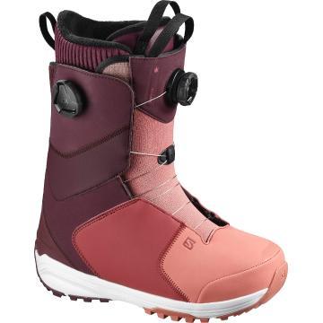 Salomon 2021 Women's Kiana Dual BOA Snow Boots - Winetasting/BrickDust/Apple B