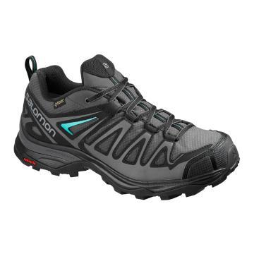 Salomon Women's X Ultra 3 Prime Gore-Tex Trail Shoes - Magnet/Black/Atlantis