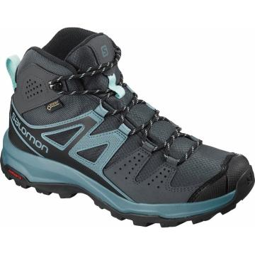 Salomon Women's X Radiant Mid GTX  - Ebony/Bluestone/IM