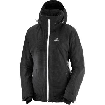 Salomon Women's Catch Me Snow Jacket - Black - Black
