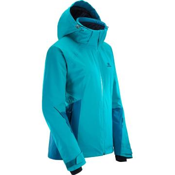 Salomon Women's Icecrystal Snow Jacket - Tile Blue/Lyons Blue  - Tile Blue/Lyons Blue