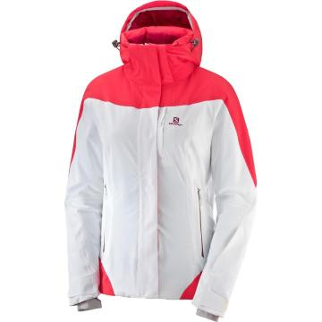 Salomon Women's Icerocket Snow Jacket - White Hibiscus - White Hibiscus