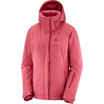 Salomon Women's Stormpunch Snow Jacket - Garnet Rose - GARNET ROSE