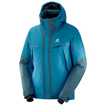 Salomon   Mens Icecool Jkt - Moroc Blue/Reflecting Pond
