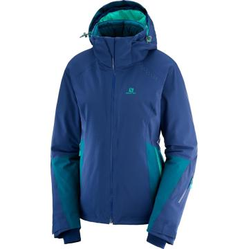 Salomon   Women's Icecrystal Snow Jacket - Medieval Blue/Deep Lagoon