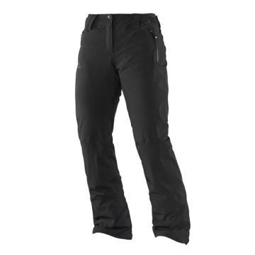 Salomon Women's Iceglory Snow Pants (Long) - Black - Black