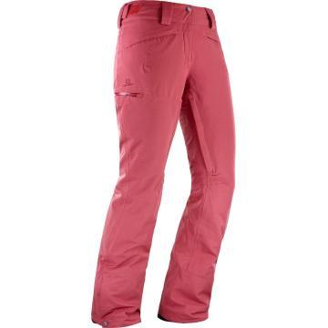 Salomon Women's QST Snow Pants - Garnet Rose  - GARNET ROSE