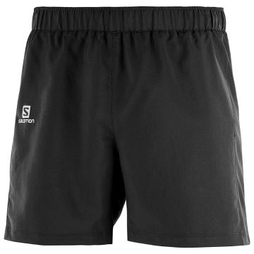 "Salomon Mens Agile 5"""" Short - Black"