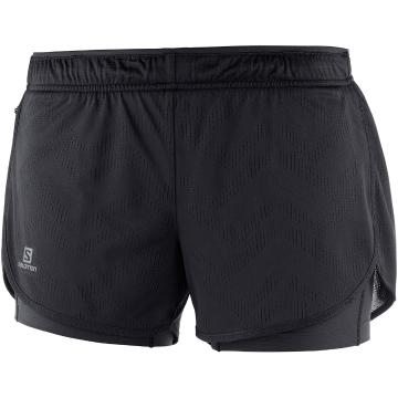 Salomon Women's Agile 2In1 Shorts - Black