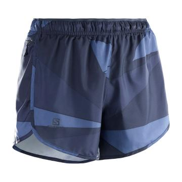 Salomon Women's Agile Shorts - Night Sky/Graphite