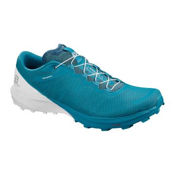 Salomon Men's Sense 4 Pro - Fjord Blue/White/Icy Morn