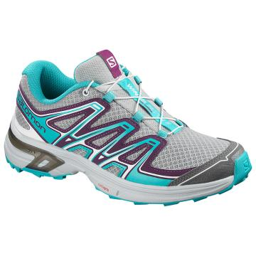 Salomon Women's Wings Flyte 2 - Quarry/DrkPurple/BluBrd