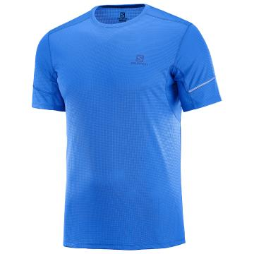 Salomon Men's Agile Short Sleeve Tee - Nautical Blue